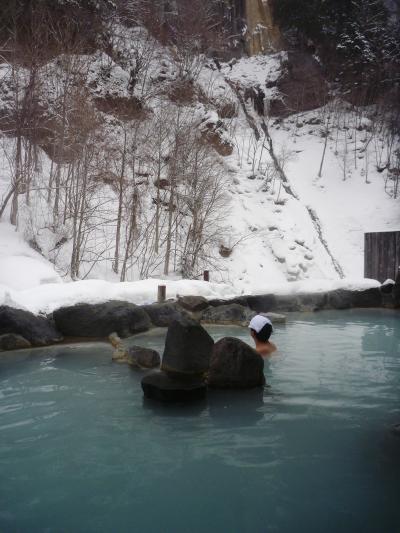 栃木/ほっこり雪見風呂@加仁湯温泉(2012年2月)