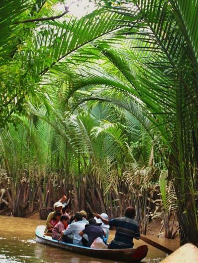 ベトナム15 タイソン島;ジャングルクルーズ ☆手漕ぎ舟で20分