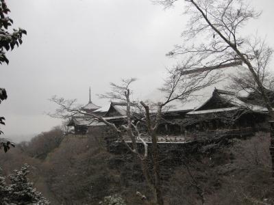 ●京都冬の旅⑦早朝散歩で清水寺行ったら雪降った●