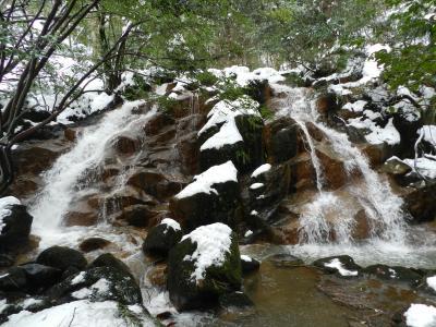 『七ツ滝』へ雪中行軍!(石川県能美市)◆2012年冬・雪の金沢へ≪その6≫
