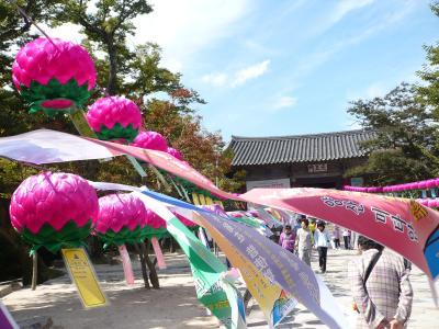 20101003 おばばと釜山 通度寺へ