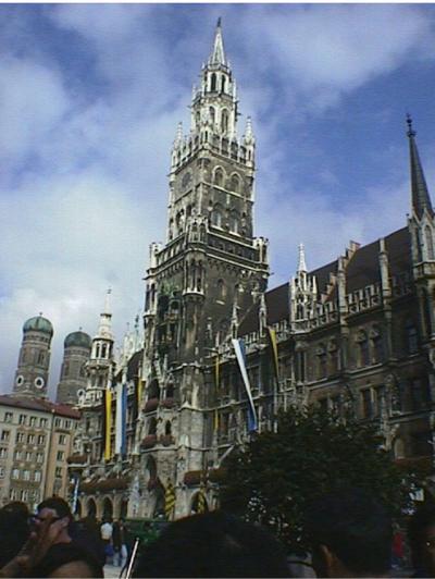 1996年初めてのヨーロッパ フランスからドイツへ  その6 ニンヘンブルク宮殿と市内散策、そして帰国