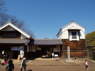 府中市郷土の森博物館 梅まつり−4 復元家屋 含む