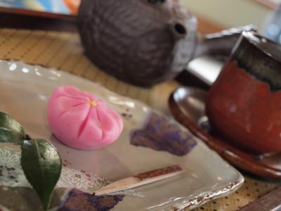 早春の箱根 箱根仙石原の甘味処 仙石花詩(はなことば)で一休み 2012年3月