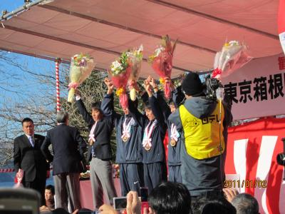 箱根駅伝2011年芦ノ湖・大手町