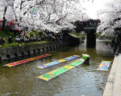 春一番の五条川さくら祭りに訪れて・・・。