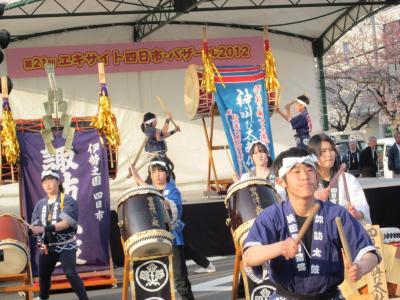 地元四日市桜祭りと有名な海蔵川桜堤