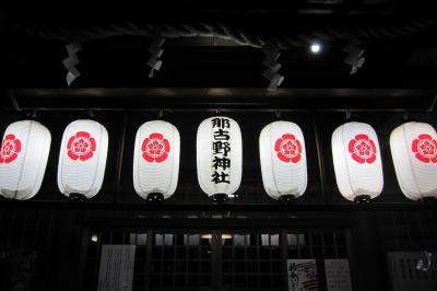 2012春、名古屋市内の夜桜見物(2)鶴舞公園の夜桜、那古野神社の夜桜