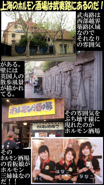 上海のホルモン酒場は武夷路にあるのだ!
