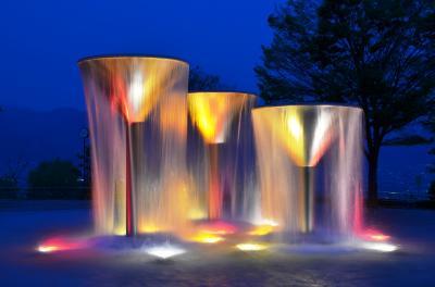 【山梨県(笛吹)】新日本三大夜景「笛吹川フルーツ公園」