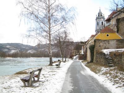 1202オーストリア・ブドウ畑の真ん中のワインの村を真冬に訪れた場合★とりあえず写真だけ