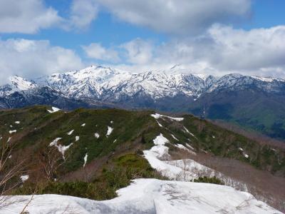 新緑の大日ヶ岳 今年は雪が少なかった…