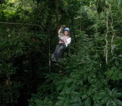 コスタリカの空中散歩・キャノピー体験