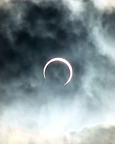金環日食 (2012年5月21日 和歌山市内 動画あり)