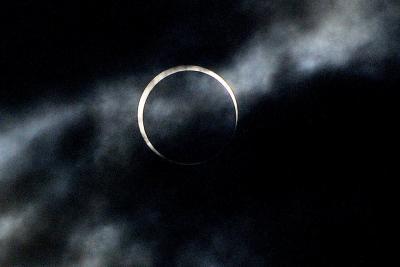 金環日食観察