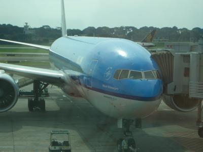 ②ビジネスクラスで行く、ユナイテット航空UA・シンガポールSINへ、乗り継ぎで、KLMオランダ航空KLM・デンパサール・バリ島DPS行って来ました。