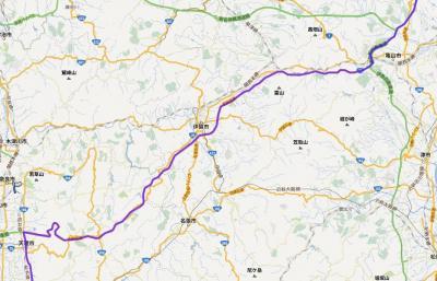 天理から亀山へ名阪国道(R25)を走る。なかなかのアップダウン。