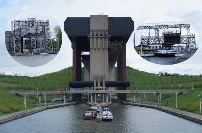 サントル運河の4つと最新のリフトが混在するラ・ルビエール