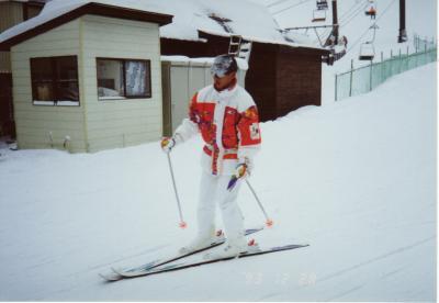 長野県の菅平にスキーに行った