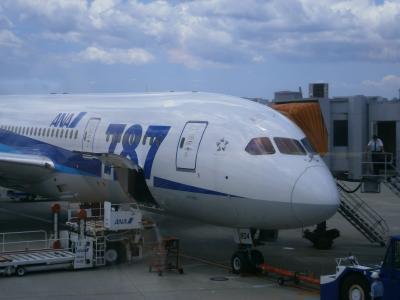 ボーイング787に搭乗しました