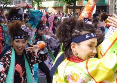 第21回YOSAKOIソーラン祭り(2012年)平岸会場1(平岸天神、むろらん鯨翔舞ほか)
