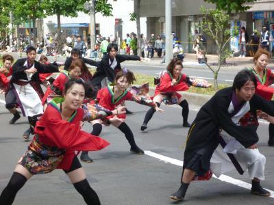 第21回YOSAKOIソーラン祭り(2012年)平岸会場5(北海道文教大学~陽燕(ひえん)~ほか)