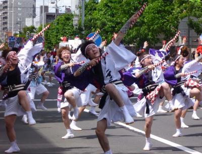 第21回YOSAKOIソーラン祭り(2012年)平岸会場6(江別まっことえぇ&北海道情報大学ほか)