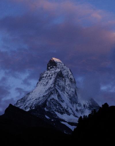 スイス花物語 その4 マッターホルンのモルゲンロート
