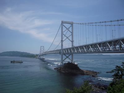 近くて遠い徳島に初上陸で鳴門の渦を鳴門大橋から覗く(四国1)