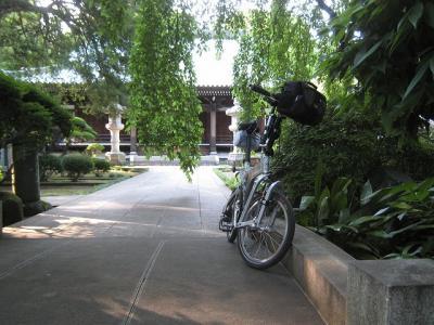 BD-1で夕暮れの安養院へサイクリング