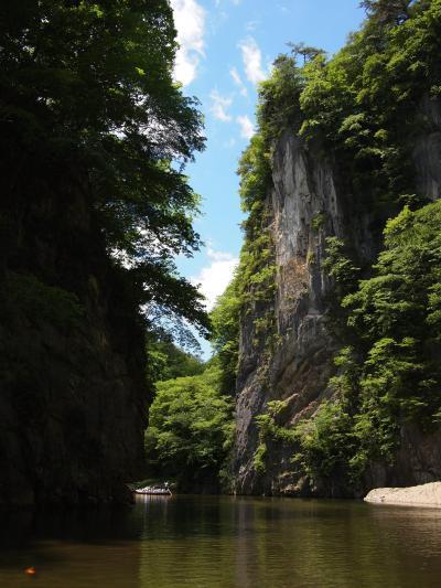 イーハトーブ♪猊鼻渓(舟下り)・幽玄洞&歴史公園えさし藤原の郷