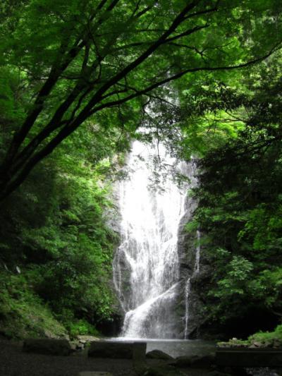 丹波インターのそばに滝が有った。