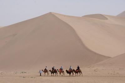 GWひとりシルクロードプチ旅13★敦煌★広大な砂漠と水をたたえる月牙泉