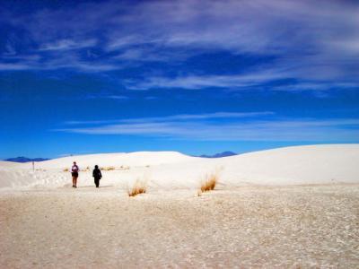 アメリカ・ニューメキシコ 白の世界 ホワイトサンズ国定公園 2009冬