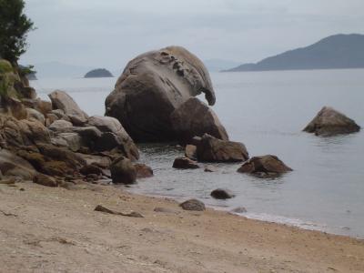岡山県下津井港沖の六口島の象岩が見たくて