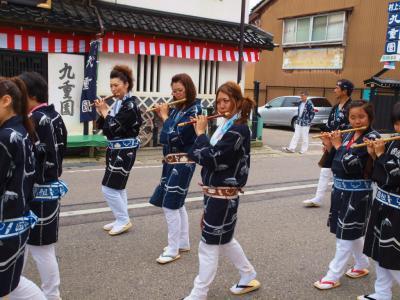 日本の祭 2012 村上大祭 宵まつり 小国町 おしゃぎり編ー2