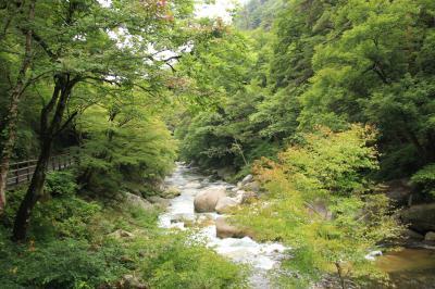 石和温泉郷に泊まって昇仙峡へ行こう!(5)思った以上に絶景続きだった天神森エリアの渓谷道路沿い約3km