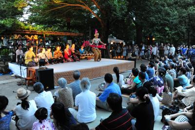 沼袋の百観音明治寺 献灯会とジャワガムラン演奏