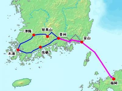 2012年 韓国南部周遊 自転車旅行 【1・2日目 福岡~釜山~晋州】