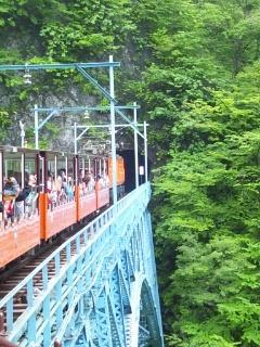 ☆夏の黒部峡谷トロッコ列車で☆