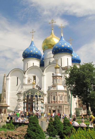ロシアの旅(3)・・セルギエフ・ポサードのトロイツェ・セルギエフ大修道院を訪ねて