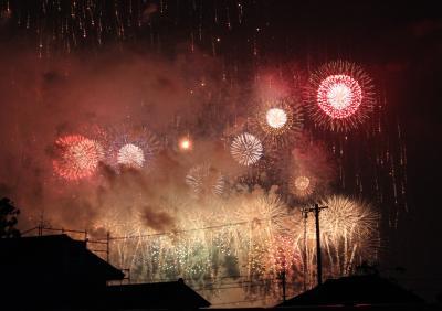 ちゃむたもたまには…夫と花火見物&居酒屋デート♪ 東日本大震災復興祈願・花火大会の後は 『Lu-pin』で乾杯~☆