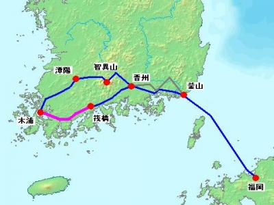 2012年 韓国南部周遊 自転車旅行 【4日目 筏橋~木浦】