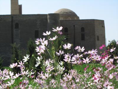 2011年秋ウズベキスタン旅行第4日目(3)ブハラ:静かなイスチロハット公園で、土れんがが美しいサーマーニ廟と、水の博物館のようだったアイユブ廟