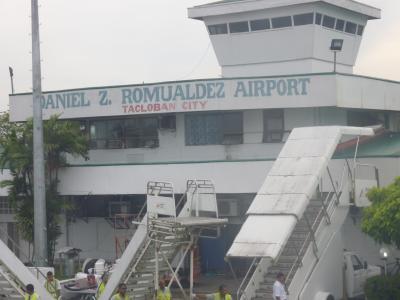 タクロバン空港のようす
