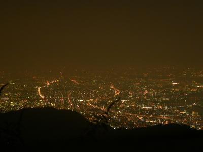 六甲山から見るスヌーピーの夜景