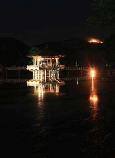 奈良でプチオフ会 「奈良大文字送り火」「東大寺大仏殿万灯供養会」