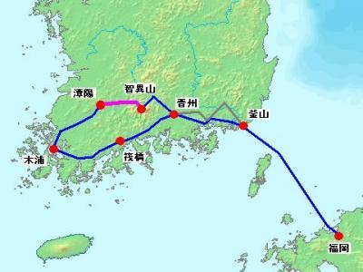 2012年 韓国南部周遊 自転車旅行 【6日目 潭陽~智異山】