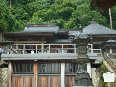 奥の細道を訪ねて第10回29立石寺(山寺)の景観②800段の登山回廊からの景観
