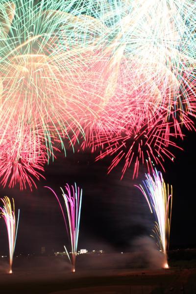2012年 8月 日本花火の特徴と江戸川運動公園の土手から見る三郷の花火大会~花火撮影(3)